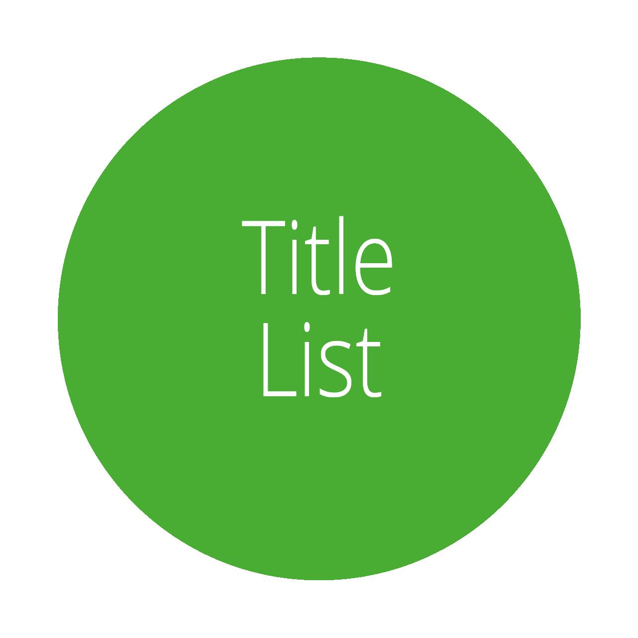 Title List KU Select 2020
